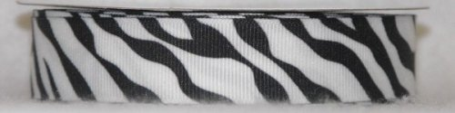 "7/8"" ZEBRA #C01 White w/Black"