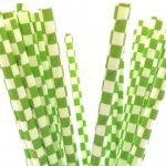 PPS6-169 Square Paper Straws Green (20pcs)