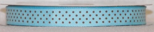 DT417-070 #C05 Lt.Turquoise w/Brown Dots