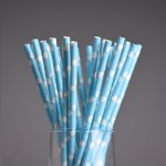 PPS5-161B Heart Love Paper Straws Blue (20pcs)