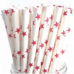 PPS4-67 Red Star Straws (20pcs)