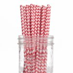 PPS2-80 Chevron Paper Straws Red(20pcs)