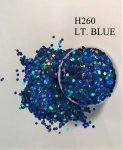 H260 LT. BLUE (1.6MM) 500G/BAG