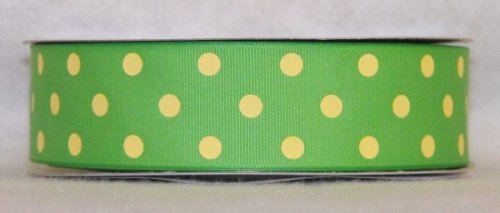 DT547-150 #C09 Apple Green w/Baby Maize Dots