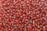 6/0 E Beads #25D Metal Red 1/6Pound