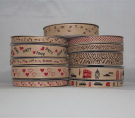 Printed Faux Jute Ribbons