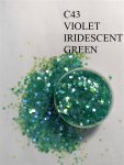 C43 Violet Iridescent Green (0.2MM) 500G BAG