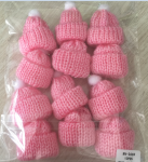 PINK CROCHET BABY HATS (12 PCS)