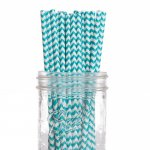 PPS2-91 Chevron Paper Straws Blue(20pcs)