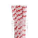 PPS5-199U Heart Love Paper Straws Red (20pcs)
