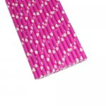 PPS5-161P Heart Love Paper Straws Pink (20pcs)