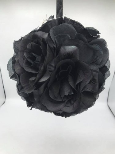 "PFB-02B Black 10"" Flower Ball (1pcs)"