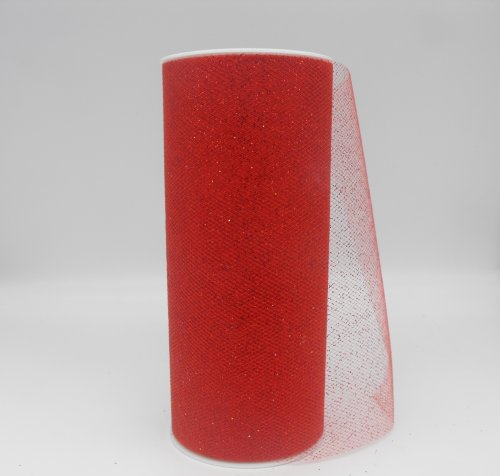 TULLE W/GLITTER #065 RED