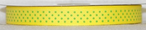DT417-030 #C02 Canary w/Apple Green Dots
