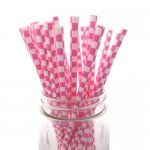 PPS6-176 Square Paper Straws Pink (20pcs)