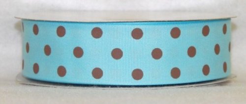 DT547-150 #C05 Lt.Turquoise w/Brown Dots
