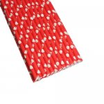 PPS5-159 Heart Love Paper Straws Red (20pcs)