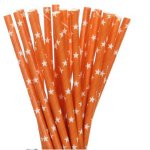 PPS4-162 Orange Star Straws (20pcs)