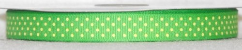 DT417-050 #C09 Apple Green w/Baby Maize Dots
