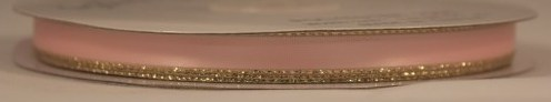 "1/4"" GOLD EDGE #167B Lt.Pink w/gold"