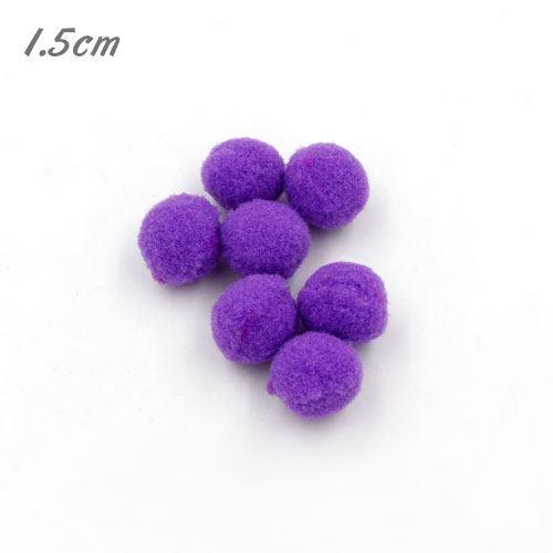 P1111PUR Purple Pom Pom Balls 15mm (100pcs)